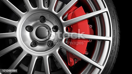 light alloy wheel studio shot, digital render, generic design.