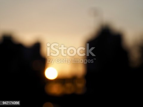 istock Light and black and white photos, focus blur, sunset, 942174056