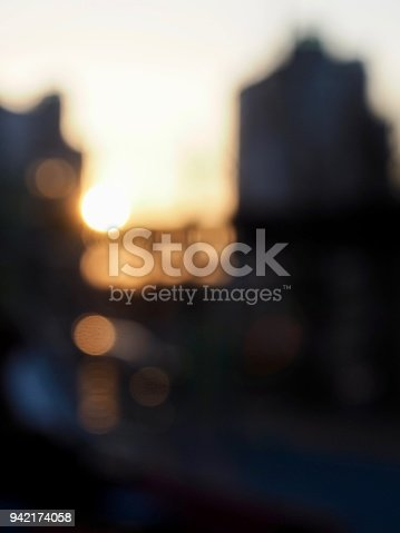 892646638 istock photo Light and black and white photos, focus blur, sunset, 942174058