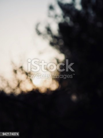 istock Light and black and white photos, focus blur, sunset, 942174074