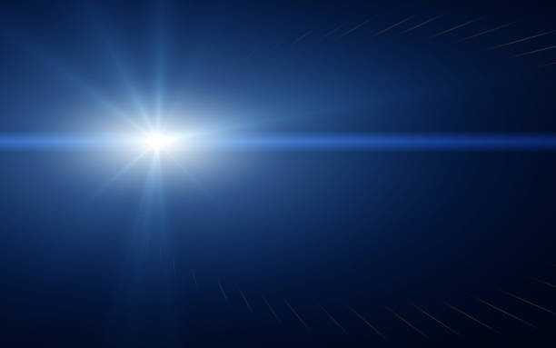 light and lens flare - flash stock photos and pictures
