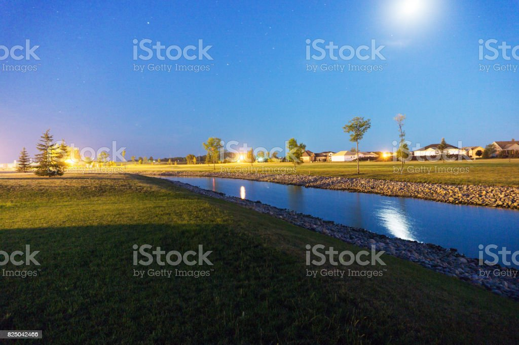 Light And Moon Exposure stock photo