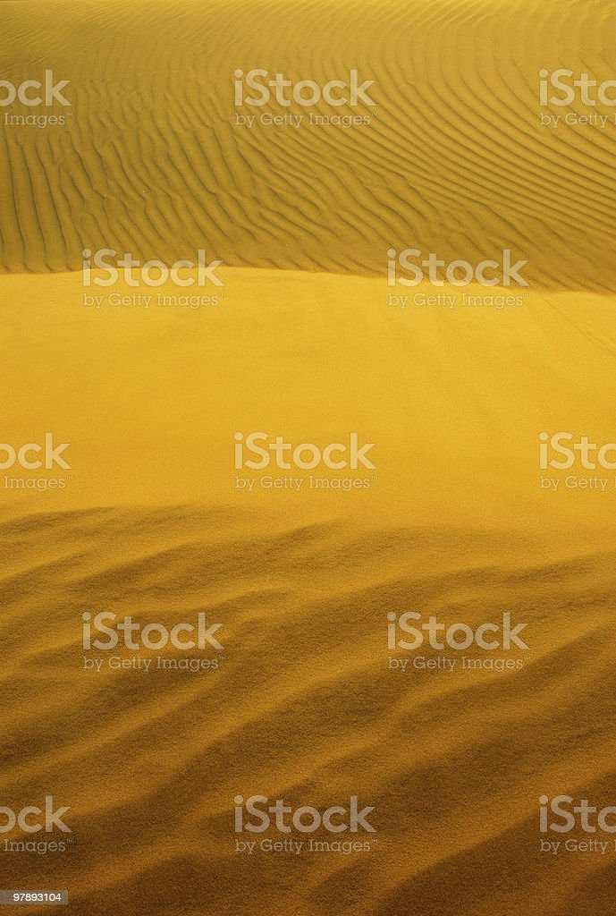 Light and Shades on sand dunes royalty-free stock photo