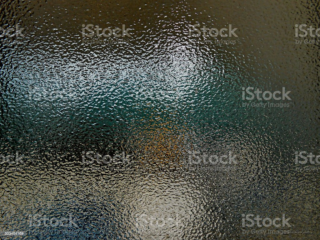 Light and shadow in the texture glass stock photo