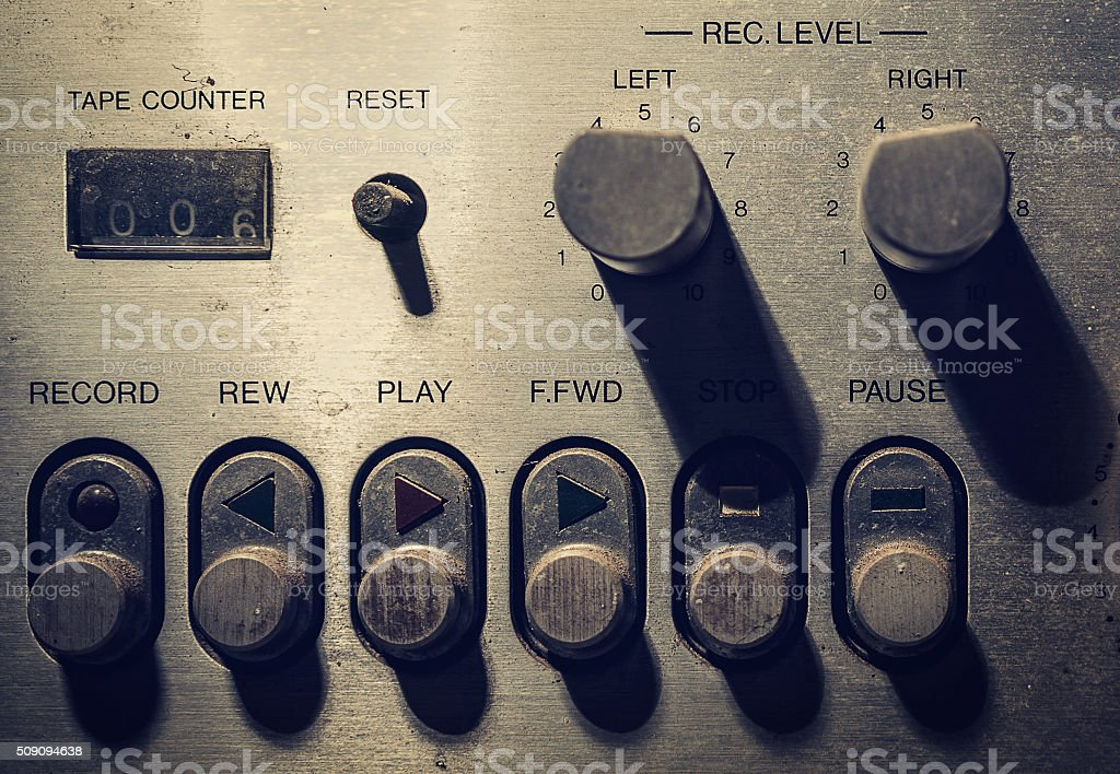 Light and shadow on  volume controls. stock photo