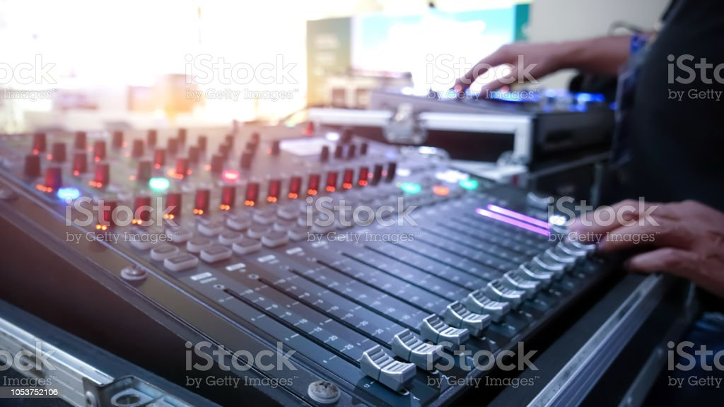 Light and Sound control mixer for Event on stage ,Professional device...