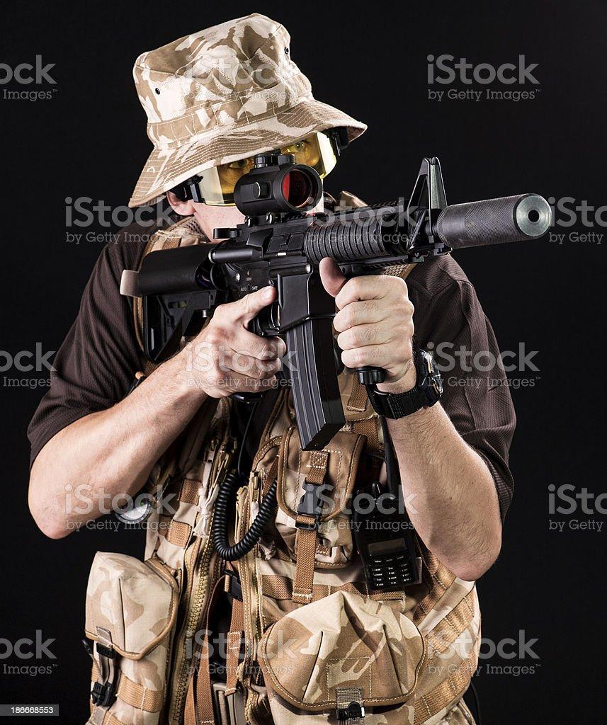 Light armor desert gear royalty-free stock photo