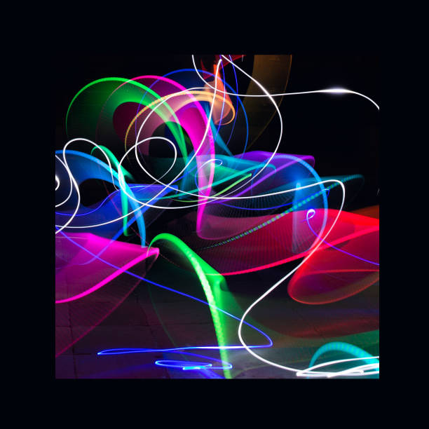 light art painting - disco lights stock photos and pictures