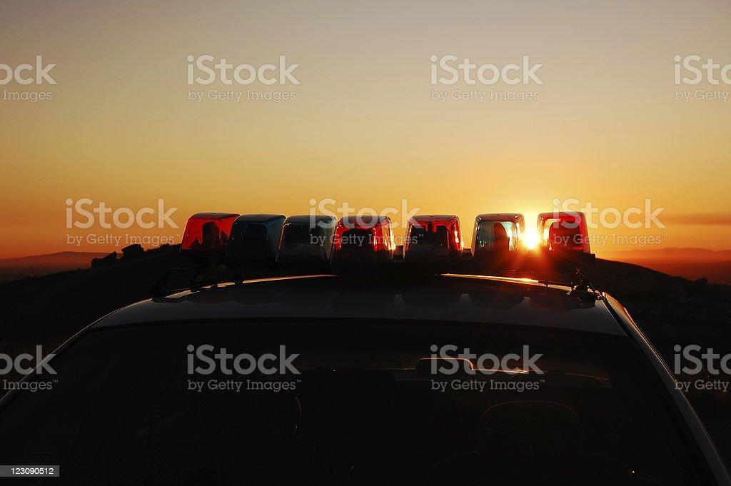 light bar sunset stock photo