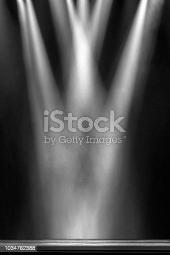 light beam on stage
