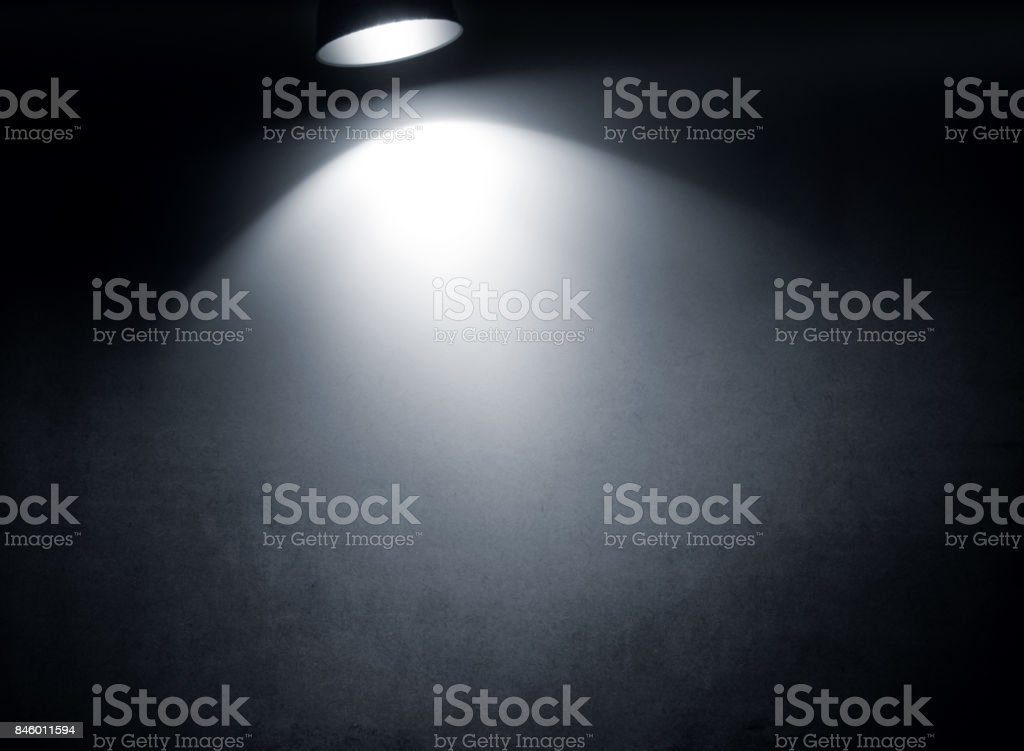 Light beam on the paper stock photo