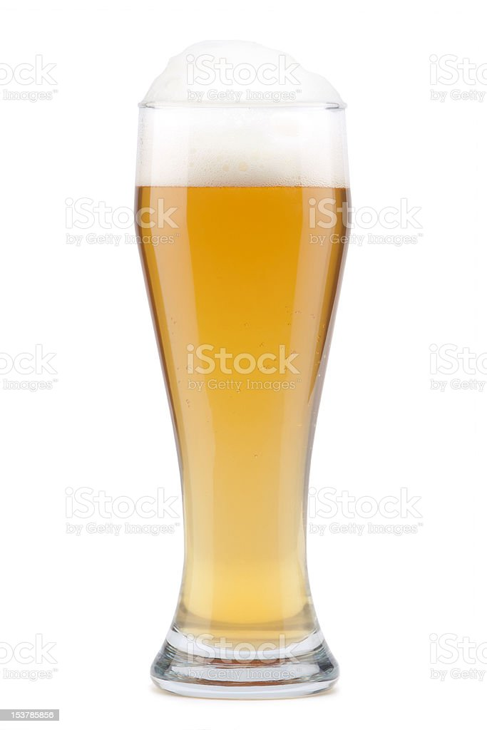 Light beer in glass stock photo