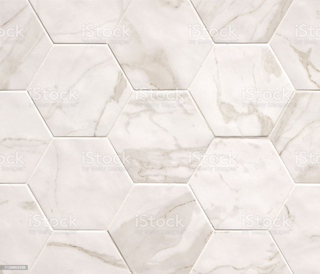 Light Beige Hexagonal Marble Mosaic Tiles Texture Background Marble Tiles With Natural Pattern Stock Photo Download Image Now Istock
