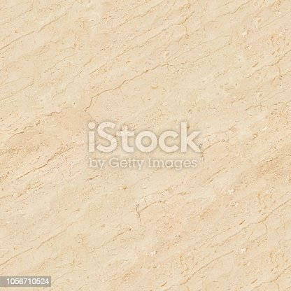 489767858 istock photo Light beige marble patterned texture. Seamless square background, tile ready. 1056710524