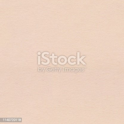 istock Light beige paper with vintage grunge texture. Seamless square background, tile ready. 1140720118