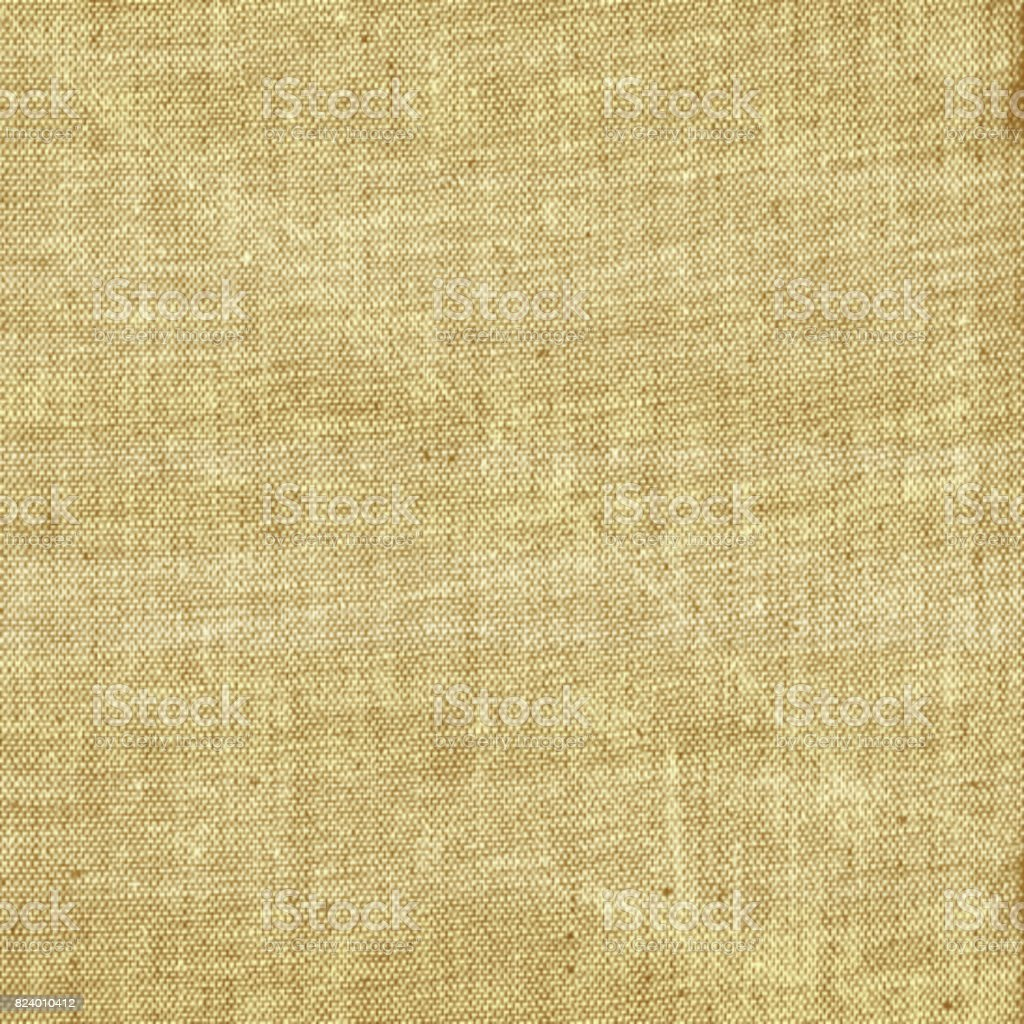 Light beige rural sackcloth jute textile fabric surface stock photo