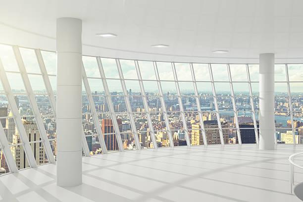 light big office with windows in floor - fönsterrad bildbanksfoton och bilder