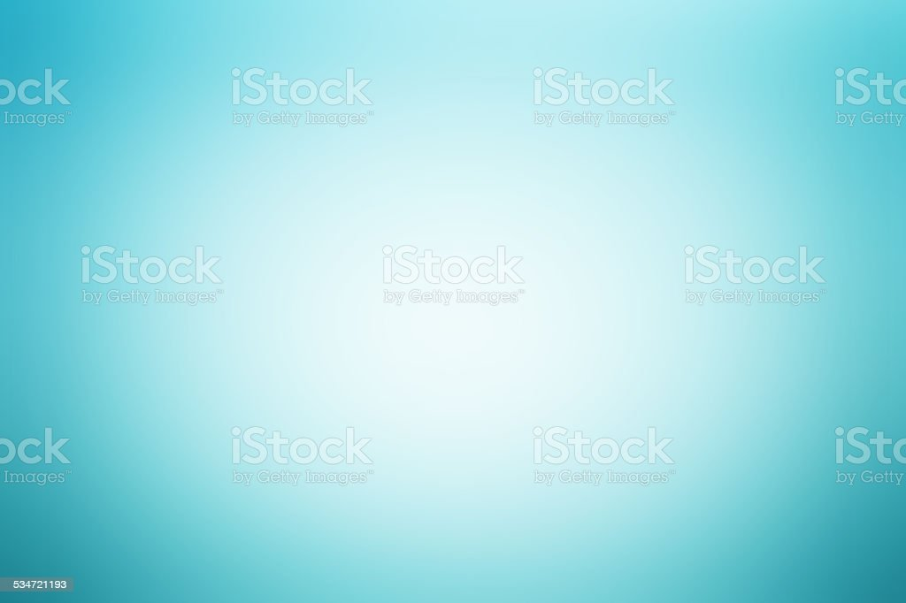 Light blue abstract background with radial gradient effect stock photo