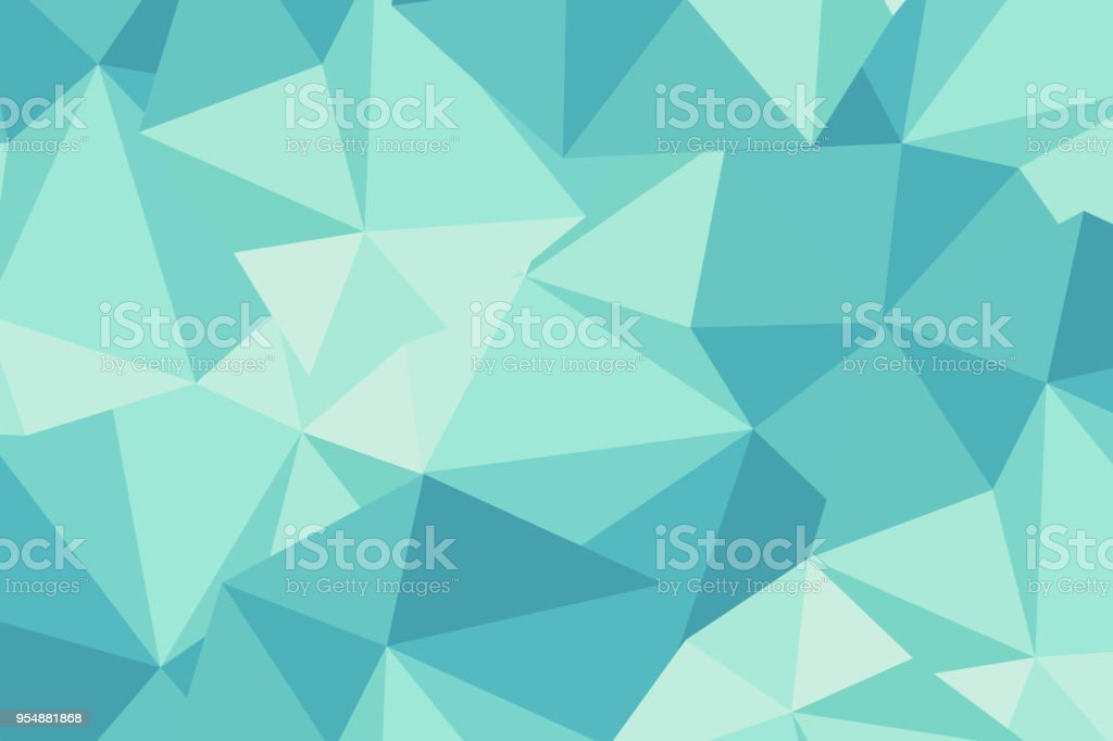 Light blue abstract polygonal background stock photo