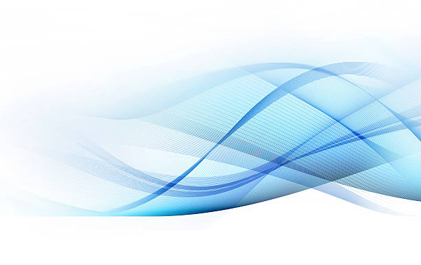 light blue and gray motion lines on white background - wave stock photos and pictures