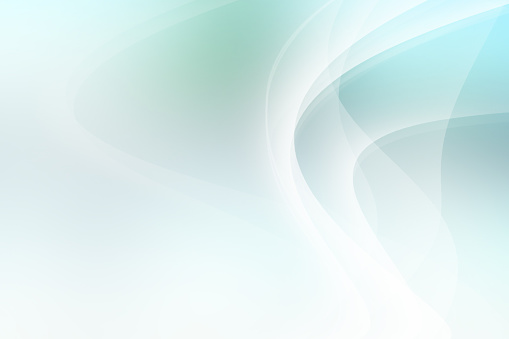 Digitally created light blue and green abstract background.