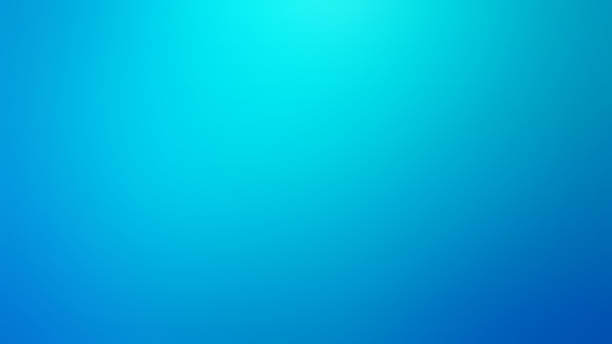 Light Blue and Teal Defocused Blurred Motion Abstract Background stock photo