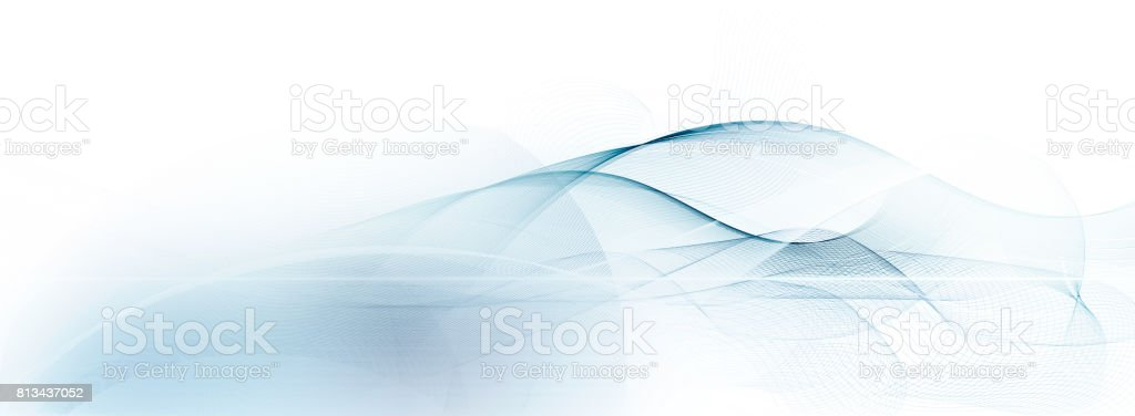 light blue and white motion lines on blurred light blue background stock photo