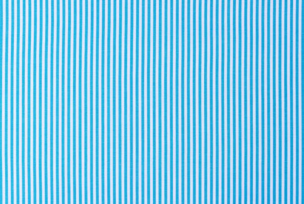 Light blue and white striped fabric background texture stock photo