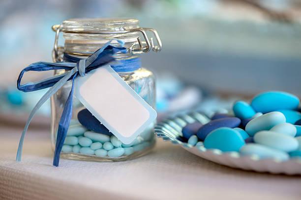 Blu chiaro candy nascita - foto stock