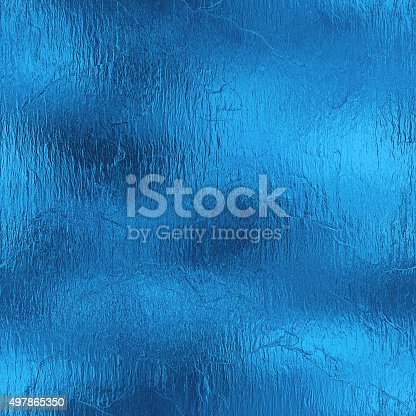 istock Light Blue Foil Seamless and Tileable Background HD Texture. 497865350