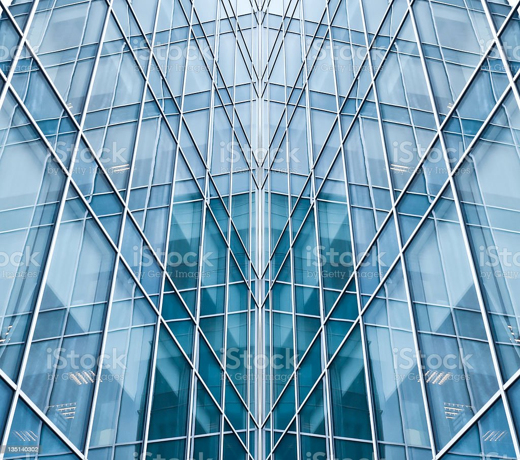 light blue glass texture of transparent skyscrapers royalty-free stock photo