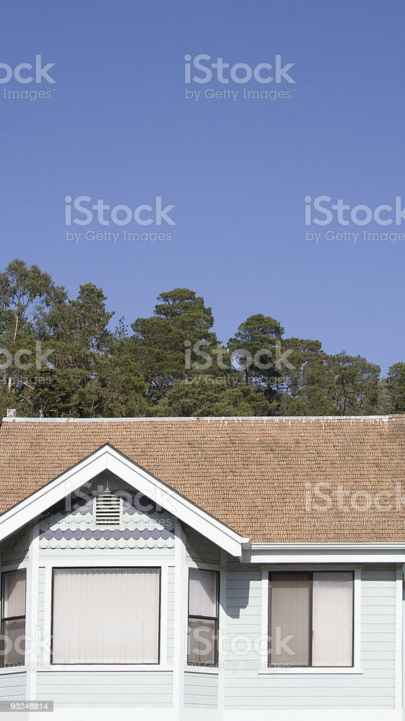 Light Blue House royalty-free stock photo