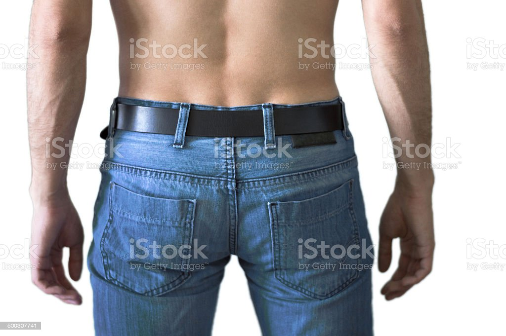 Light Blue Men Jeans stock photo