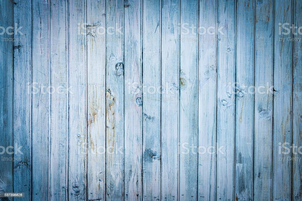 Light blue old wood planks background stock photo