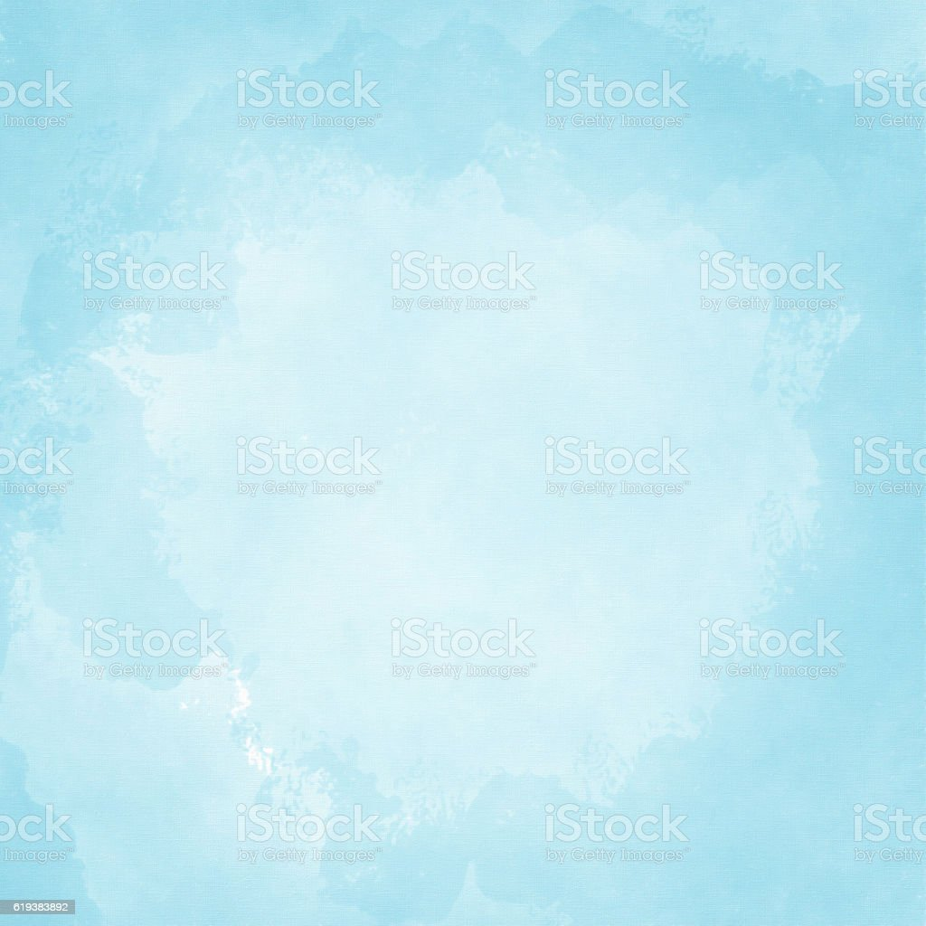 Light blue painted background with slight vignette stock photo