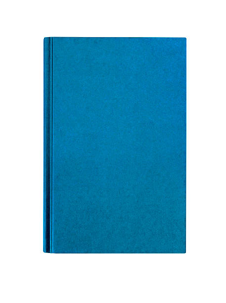 Light blue plain hardcover book front cover upright vertical stock photo