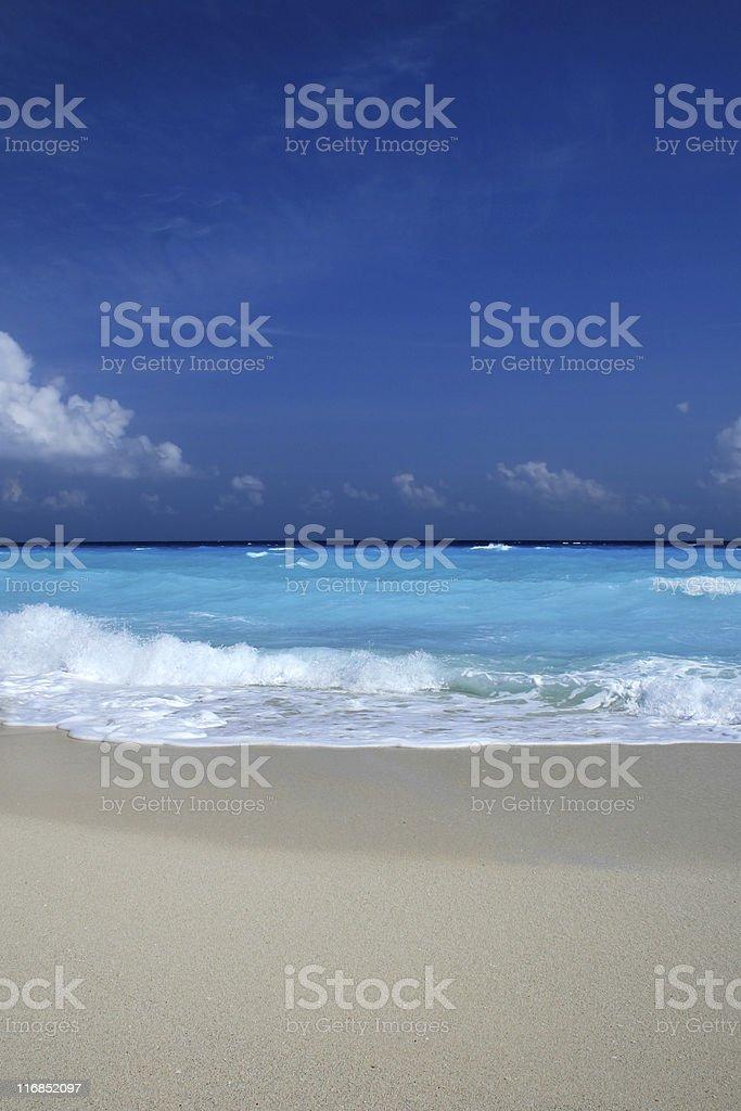 Light Blue Sea and Bright Sand stock photo