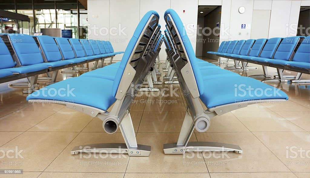 Light blue seats royalty-free stock photo