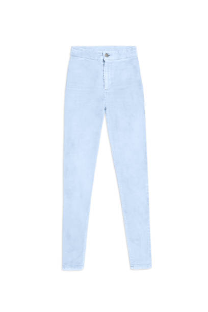 light blue skinny jeans pants, isolated on white background women's light blue skinny jeans pants, isolated on white background skinny jeans stock pictures, royalty-free photos & images