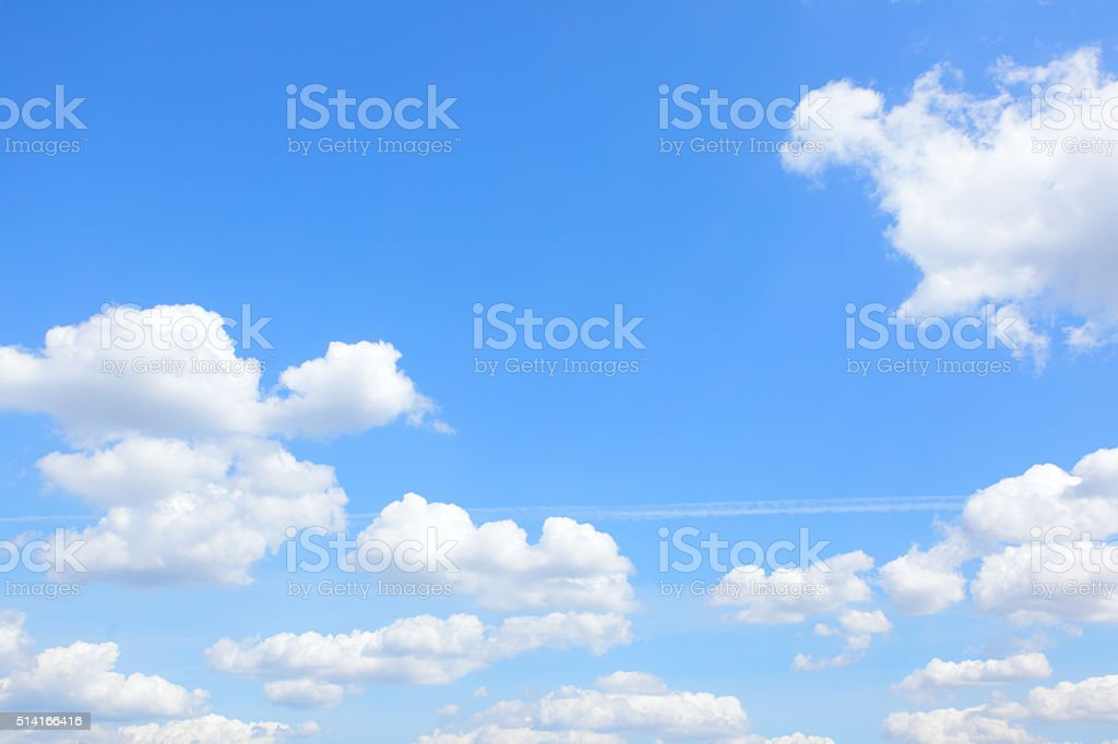 Light blue sky and clouds stock photo
