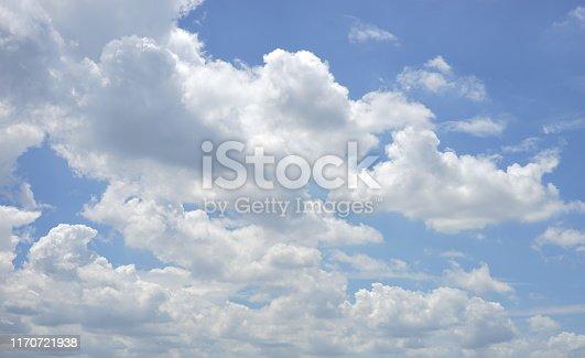 istock Light blue sky for background 1170721938