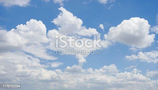 istock Light blue sky for background 1170722204