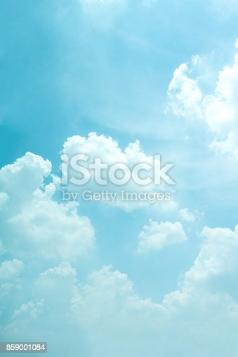 istock Light blue sky for background. 859001084