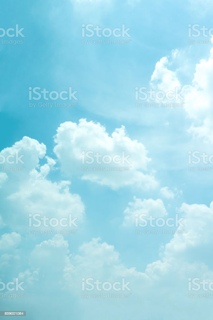 Light blue sky for background. stock photo