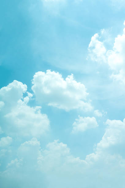 light blue sky for background. - skies stock photos and pictures