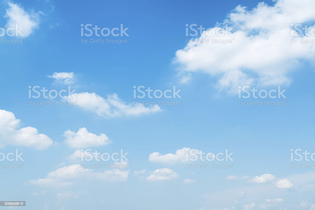 Light Blue Sky. stock photo
