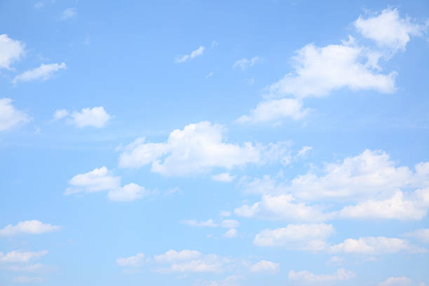 light clouds in the blue sky Poster • Pixers® - We live to ...  |Light Blue Sky Clouds