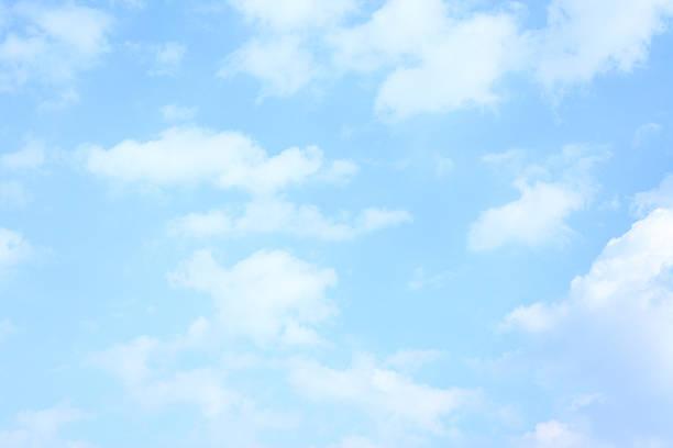 Light blue spring sky stock photo