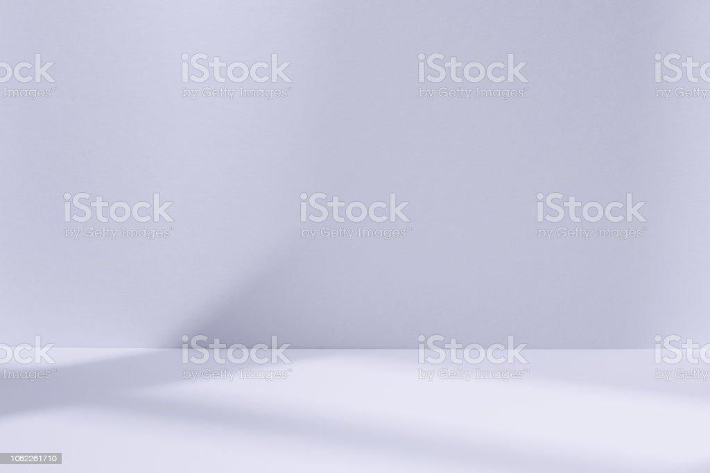 Lichtstudio blauen Raum mit Fenster Schatten – Foto