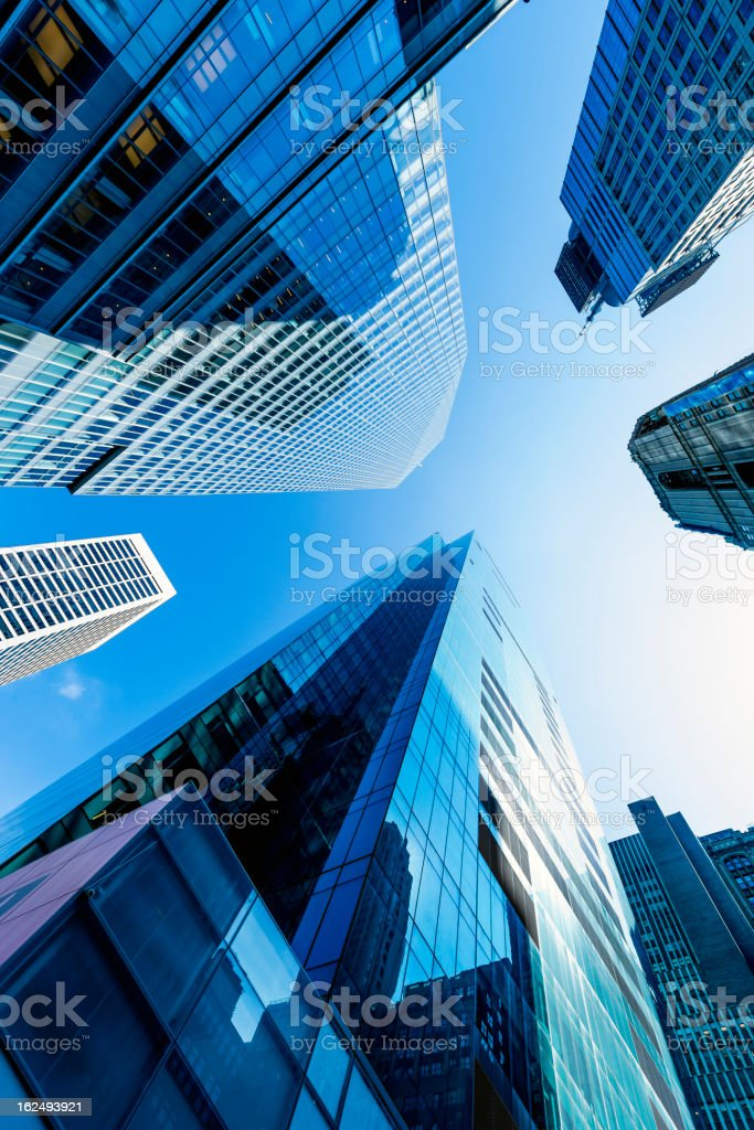 Light blue tint on skyscrapers. royalty-free stock photo